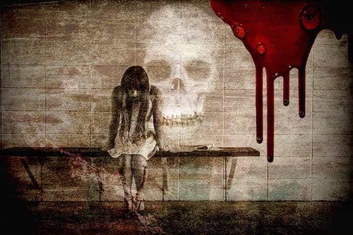 Manchas de sangre de los tejidos