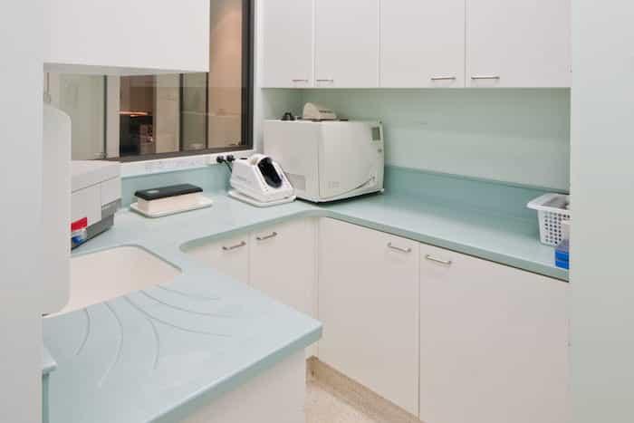 Sala higienizada tras un proceso de esterilización