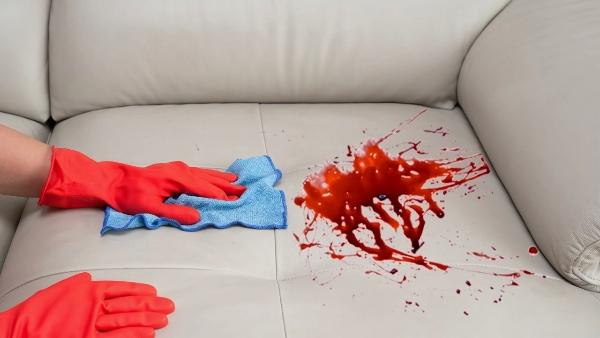 Eliminar manchas de sangre de un tapizado